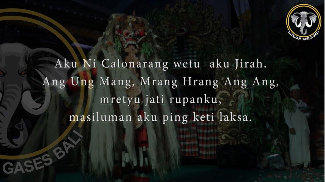 """Download """"Melajah Ngucap Rangda"""" part 2, by Komang Gases"""