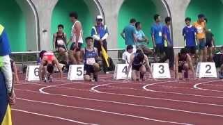 104年全大運 一般男子組田徑100公尺準決賽 泓霖&文君