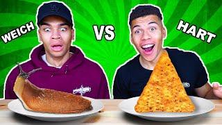 HARTES ESSEN VS WEICHES ESSEN CHALLENGE !!! | Kelvin und Marvin