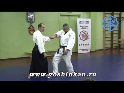 Jacques Payet Sensei (7 dan Yoshinkan Aikido), Nikajo details. Novosibirsk 2014.
