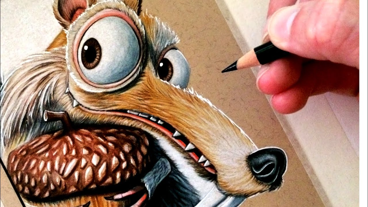 Drawing Scrat from Ice...