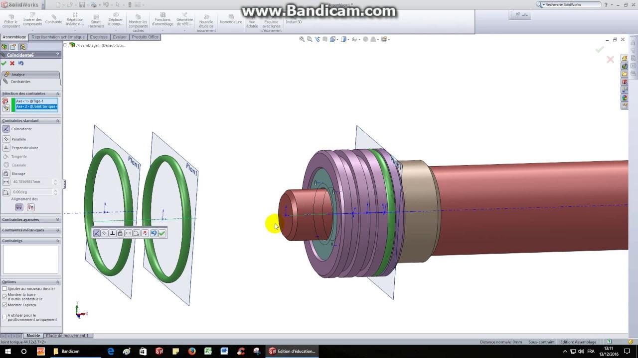 verin hydraulique solidworks