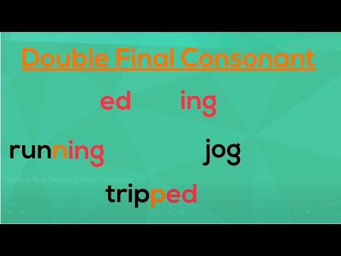 Doubling The Final Consonant | Spelling Rules | EasyTeaching