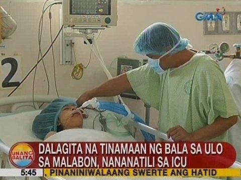 UB: Dalagita na tinamaan ng bala sa ulo sa Malabon, nananatili sa ICU