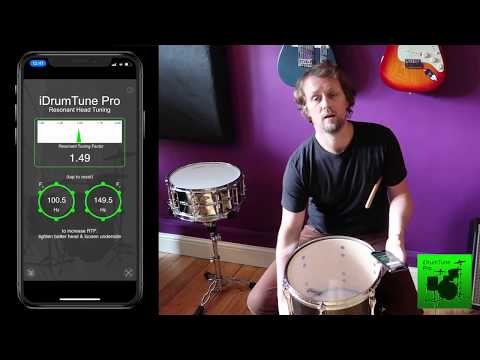 Resonant Drum Head Tuning with iDrumTune Pro, drum tuner app