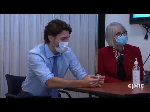 PM Trudeau Visits COVID-19 Vaccination Site In Ottawa – December 15, 2020