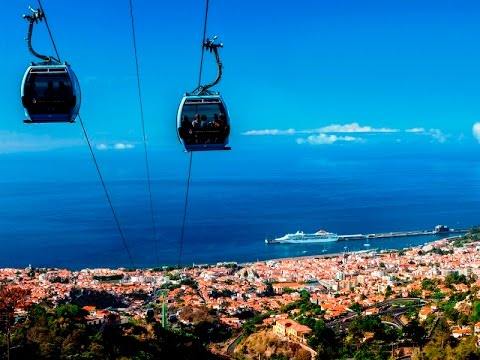 Funchal Cable Car In Madeira Island Youtube