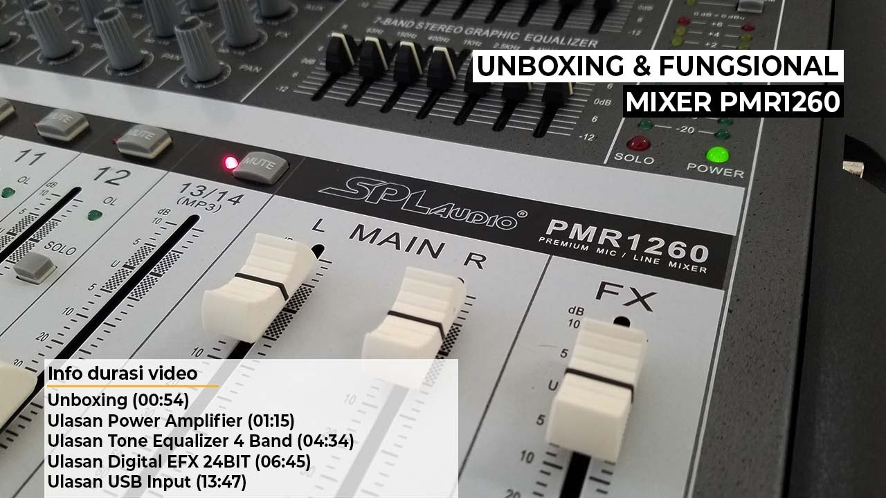 Review Powered Mixer SPL Audio PMR Series