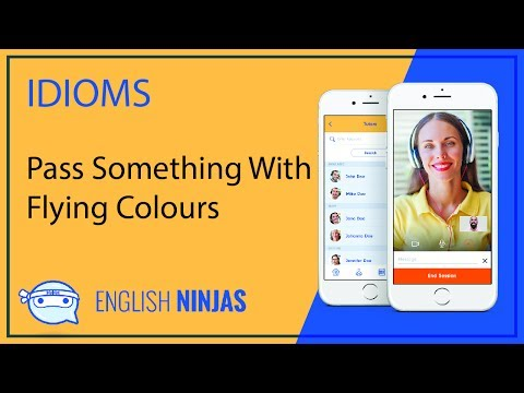 Idioms with English Ninjas - Pass something with flying colours Mp3