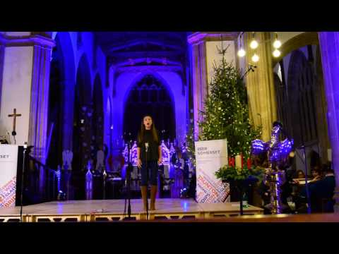 Daisy Downham Rehearsing at the BBC Somerset Concert 2015 -  The Snowman Song 'walking in the air'