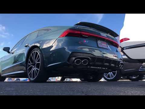 2020 Avalon Green Metallic Audi S7 Cold start up and walk around