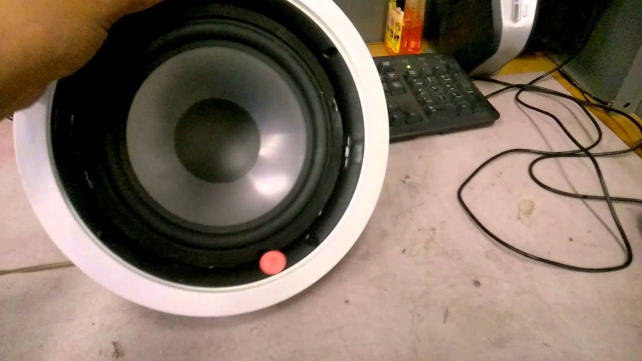 niles cm8sw passive subwoofer ceiling wall mount - youtube
