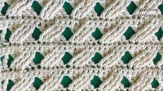 DIY Tutorial Crochet Cross Stitch Scarf (Heklana mustra)