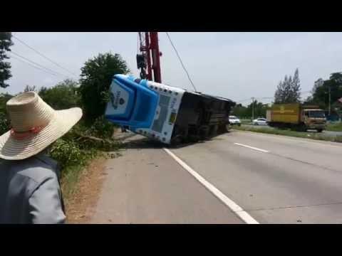 เกิดอุบัติเหตุรถ ชาญทัวร์ อ.พล จ.ขอนแก่น