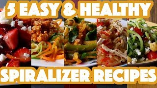 Finally! Healthy & Easy Spiralizer Recipes You Can Make | 5 Healthy Spiralizer Recipes