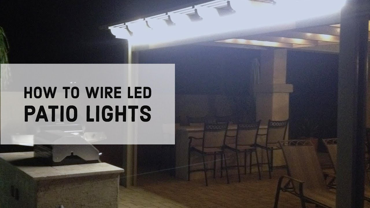 How To Wire Led Patio Lights Youtube