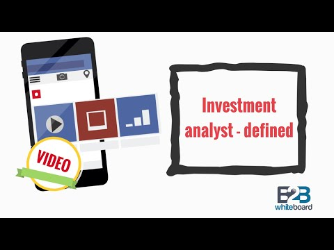 Investment analyst - defined