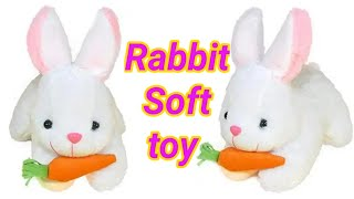 Rabbit soft toy Plush toys for kids Rabbit with carrot stuffed soft plush toy