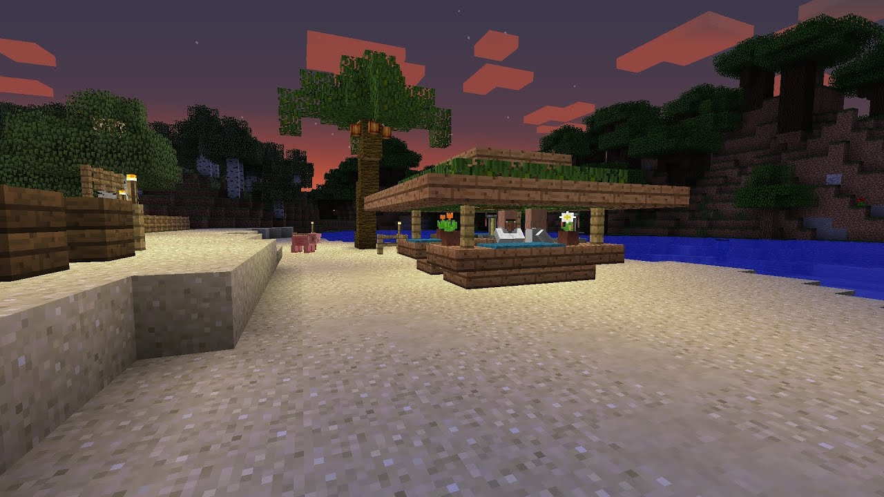 Minecraft Tiki Bar Tutorial Youtube