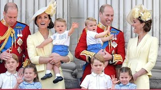 Prince Louis perfects his royal wave as he makes Trooping the Colour debut