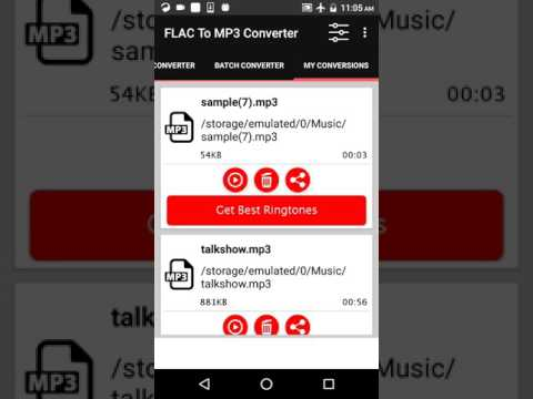 How to convert Flac To Mp3 On Android