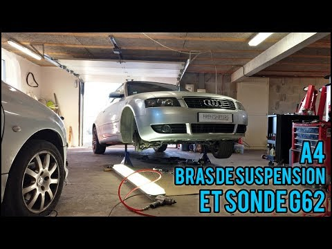 audi a4 cab ep1 bras de suspension sonde g62 youtube. Black Bedroom Furniture Sets. Home Design Ideas