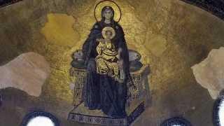 Theotokos mosaic, 867, apse, Hagia Sophia, Istanbul