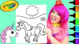 Coloring Cute Unicorn Crayola Coloring Page Prismacolor Markers | KiMMi THE CLOWN