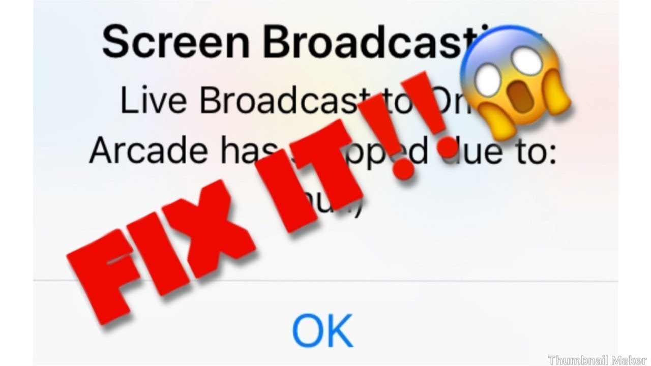 Live Broadcast stopped due to Null FIX(omlet arcade)