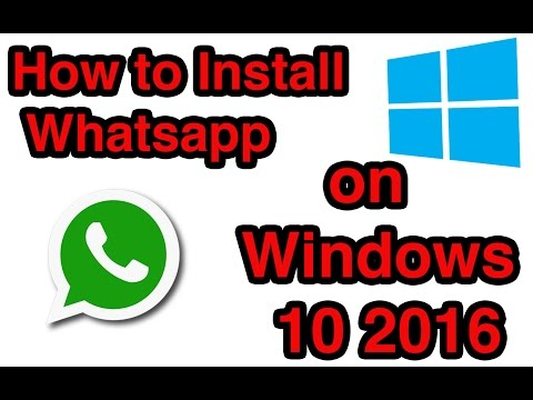 how do i install whatsapp on my windows 10 laptop