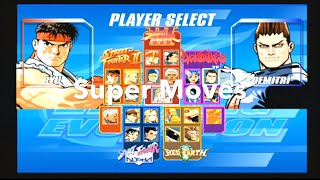 Capcom Fighting Evolution Super Moves PS2