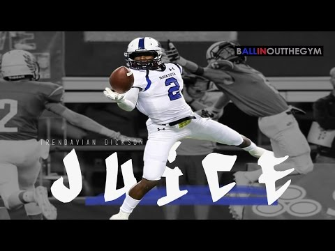 Best Receiving Season EVER: Tren'Davian Dickson in Juice (2014 Football Highlights)