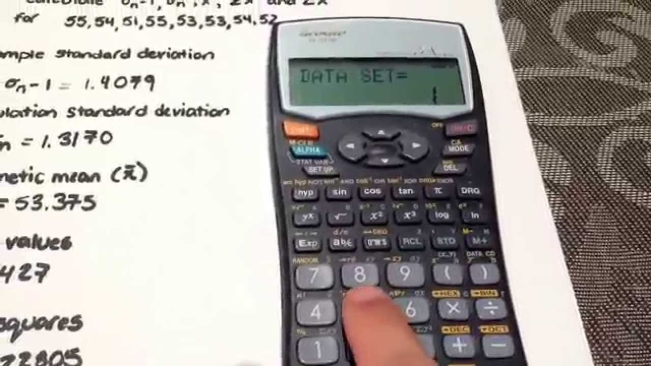 Standard Deviation And Other Statistical Calculations Using The Sharp  El531w Calculator