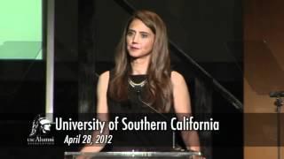 Thelma Meléndez de Santa Ana receives USC Alumni Merit Award