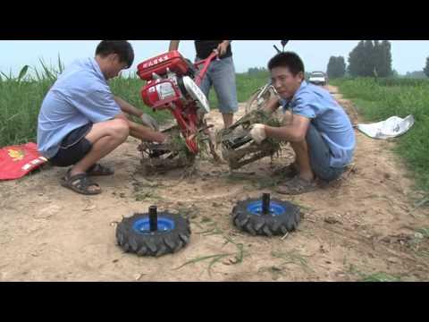 Power tiller working video