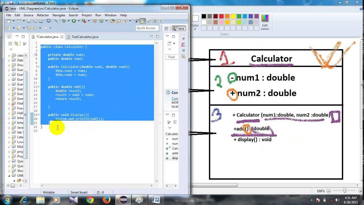 #11 Basic java tutorial in bangla ( UML Class Diagram 01 ...