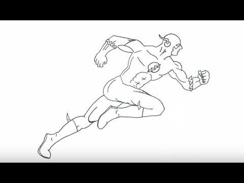 Как нарисовать флеша карандашом