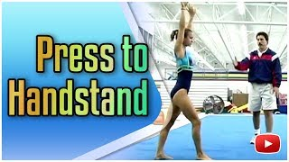 gymnastics tumbling press to handstand featuring coach steve nunno