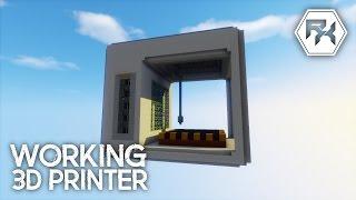 Working Command Block 3D Printer [Minecraft Showcase]