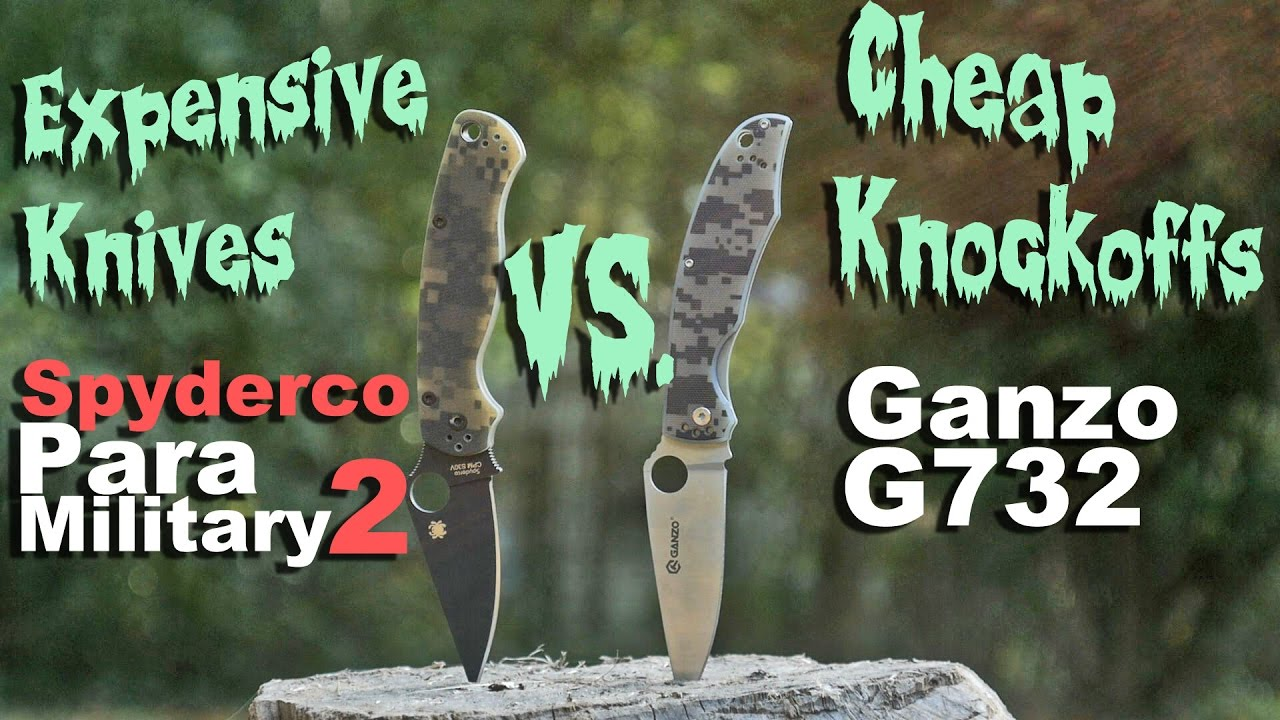 The Difference Between An Expensive Knife vs Cheap Knockoff: Spyderco vs  Ganzo