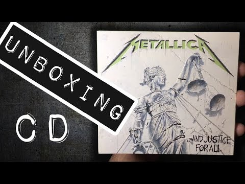 Unboxing CD Metallica - And Justice for All  Remastered  2018