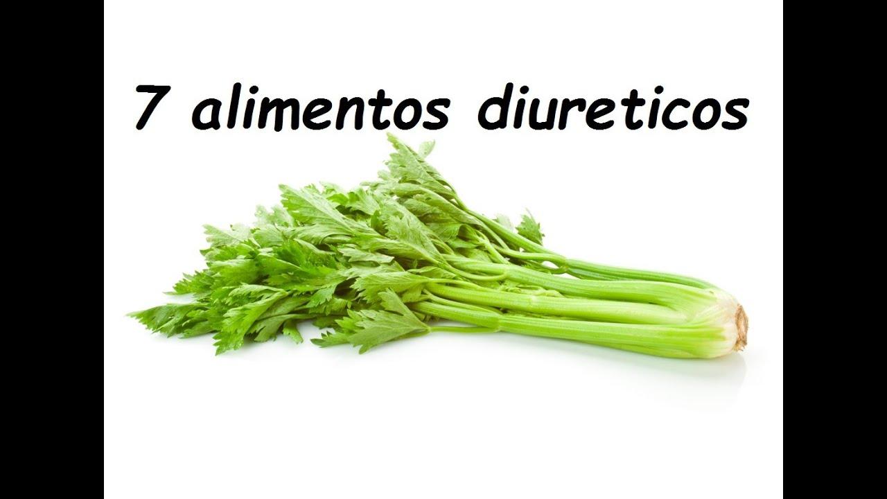 alimentos que son diureticos naturales
