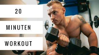 20 Minuten Workout mit Kurzhanteln zum Mitmachen | Ganzkörpertraining | LIVE