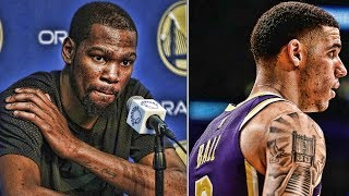 Kevin Durant Puts Fan In Check! Lonzo Ball OUT! | NBA News & Highlights