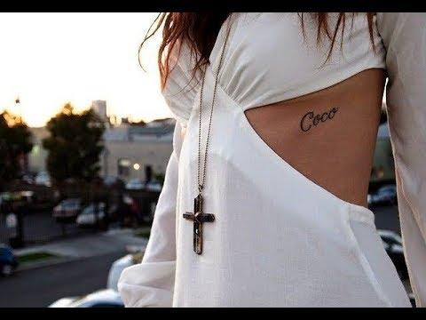 Algunos Tatuajes En Las Costillas Para Chicas Youtube