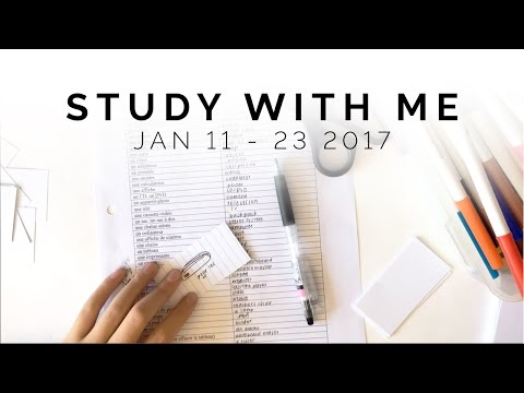 Study With Me: January 11 to 23, 2017