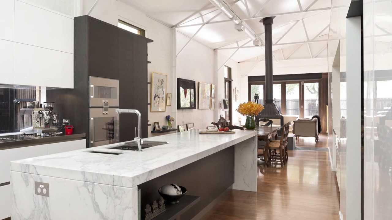 This kitchen in a converted warehouse optimises light and for Awesome warehouse kitchen design