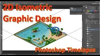 2D Isometric Game Graphic Design - Drawing a Waterpark in Photoshop