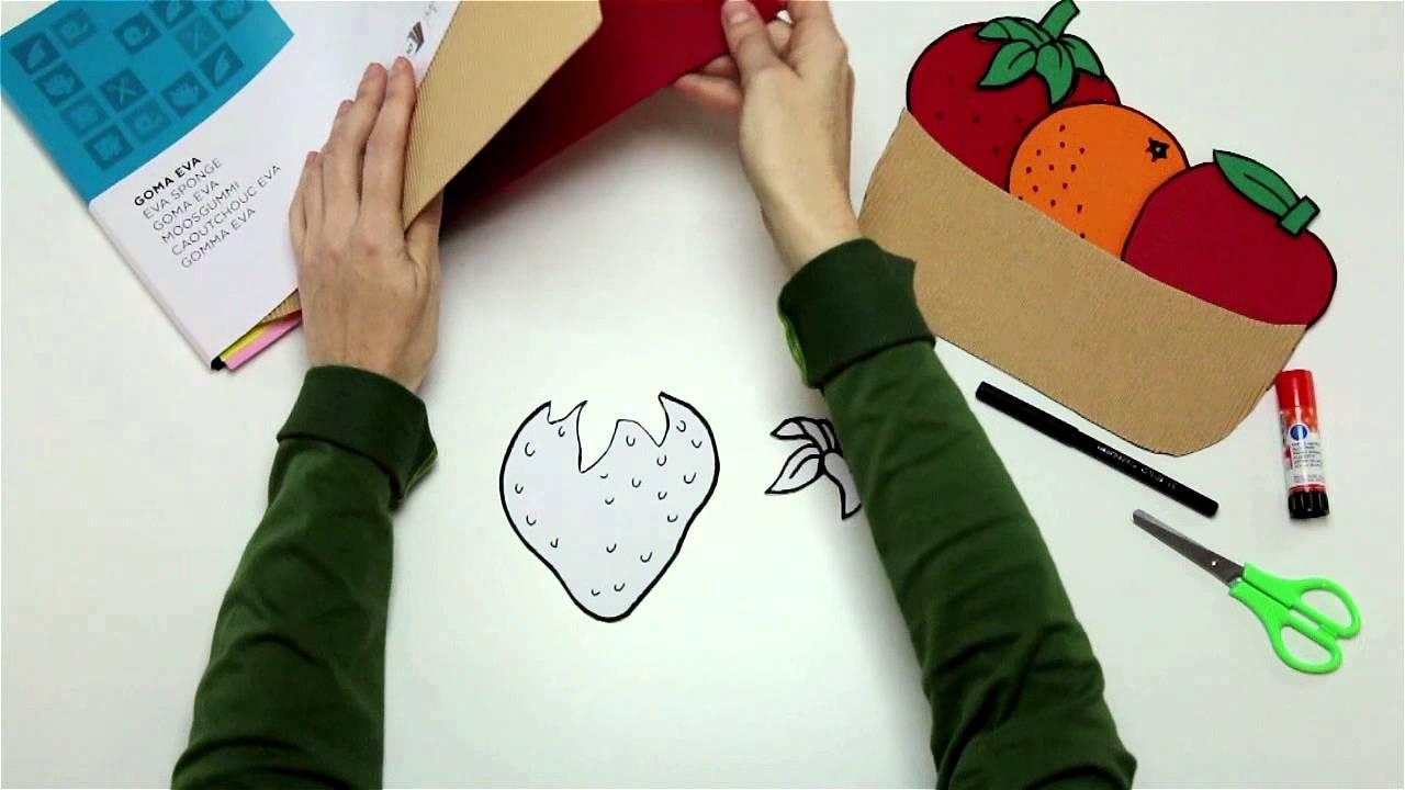 Confecciona Un Cesto De Frutas Con Cartón Ondulado Y Goma Eva Youtube