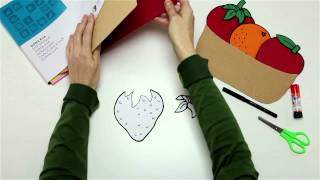 Confecciona un cesto de frutas con cartón ondulado y goma EVA